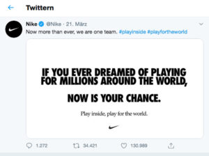 Twitterbeitrag Nike