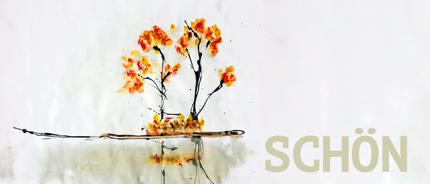 bäume malen nach dem So-sein